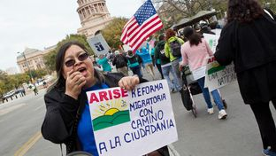The Rally for Immigration Reform on Congress Avenue near the Texas Capitol on Feb. 22, 2013.