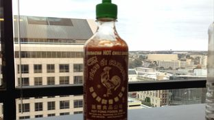 Bottle of Sriracha Sauce, made in California