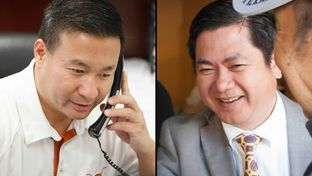 Republicans Nghi Ho, left, and Al Hoang are running for the state House seat now held by Democratic Rep. Hubert Vo.