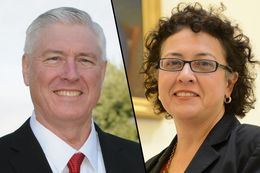 Candidates for HD-50, Mike VanDeWalle (R) and Celia Israel (D)