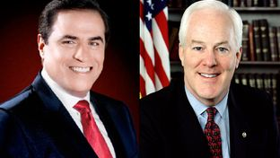 Democrat David Alameel (left), is challenging U.S. Sen. John Cornyn, a Republican who was first elected to the Senate in 2002.