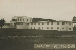 Archival image of the Corsicana youth detention facility.