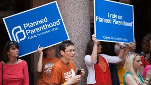 A large crowd of abortion rights advocates gathered Thursday at the Texas capitol to protest strict abortion regulations lawmakers that approved in the 2013 special session and the lingering affects of 2011 cuts to family planning services, Feb. 20, 2014.