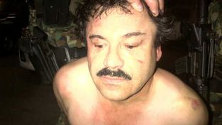 A picture of Joaquín Guzmán Loera released by law enforcement officials on Saturday.