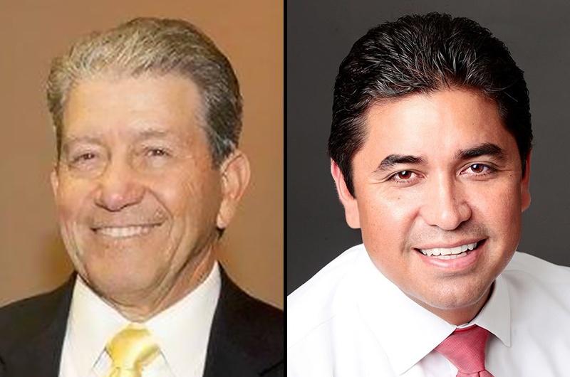 Longtime Hidalgo County District Attorney René Guerra, left, was ...