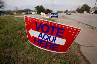 A Polling place in Austin, TX on March 4th, 2014.