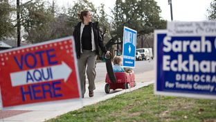 Polling spot Zilker Elementary School had extra traffic on election Tuesday, March 4, 2014.