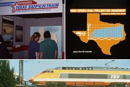 "More than 20 years ago, Texas TGV was approved to build a high-speed rail line that would connect Dallas and Houston. It was projected to carry millions of passengers. But the ""Texas Supertrain"" project never secured the necessary funding and collapsed."
