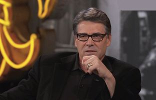 Gov. Rick Perry appearing on Jimmy Kimmel Live in Austin on 3/11/14.