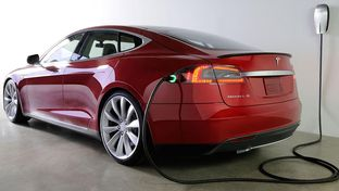 A Tesla Model S. The California-based electric automaker has named Texas one of four finalists to house a $5 billion lithium-ion battery factory.