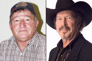 Jim Hogan, left, and Kinky Friedman are running in the Democratic primary for agriculture commissioner.