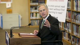 Attorney General and gubernatorial candidate Greg Abbott speaks to media about his education proposals at IDEA Carver Academy in San Antonio, Texas on April 2nd, 2014