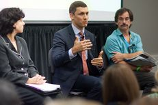 Malachi Boyuls speaks during the Regulating Energy panel at The Texas Tribune Festival on Sep. 28, 2013.