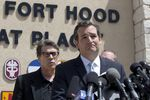 U.S. Sen Ted Cruz and Gov. Rick Perry at Fort Hood on April 4, 2014.