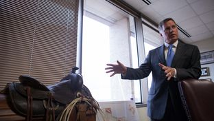 Texas Railroad Commission Chairman Barry Smitherman in his office on May 31, 2013.