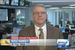 "Texas Tribune Executive Editor Ross Ramsey on WFAA-TV's ""Inside Texas Politics"" on May 4, 2014."