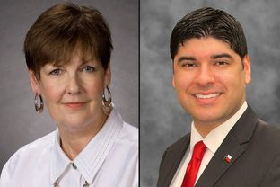 State Board of Education incumbent Pat Hardy, left, is facing Eric Mahroum, a Tea Party activist, in a Republican primary runoff in North Texas.