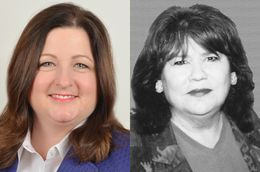 Democratic candidates Susan Motley (l.) and Terry Meza, in a runoff for House District 105.