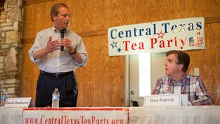Lt. Gov. David Dewhurst and state Sen. Dan Patrick debated in Salado, Tx on May 20, 2014, ahead of the Republican primary runoff for lieutenant governor.