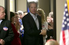 Lt. Gov. David Dewhurst comes out to greet crowd after loosing his reelection bid to Sen. Dan Patrick