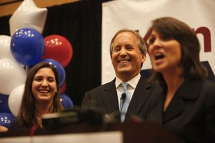 State Sen. Ken Paxton, the Republican nominee for attorney general, celebrated his GOP primary win with supporters on May 27, 2014.