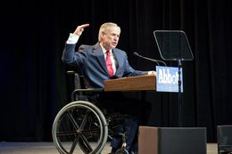 Republican governor nominee Greg Abbott speaks to Texas Republicans at their Fort Worth convention June 6, 2014.