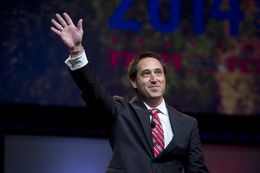 Sen. Glenn Hegar, candidate for State Comptroller, onstage at the State Republican Convention June 6, 2014.
