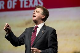Lt. Gov. candidate Dan Patrick speaks to the Texas Republican Convention on its final day June 7, 2014.