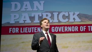 Sen. Dan Patrick rallies the faithful at the Texas Republican Convention in Fort Worth on June 7, 2014.