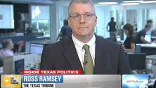 "Texas Tribune Executive Editor Ross Ramsey on WFAA-TV's ""Inside Texas Politics"" on June 8, 2014."