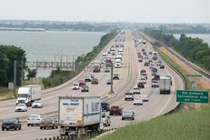 Traffic on I-30 on the eastern side of Lake Ray Hubbard in Rockwall on June 6. This stretch of highway has become known for bad rush-hour traffic, which is expected to worsen as the area population grows. A proposed private tollway running between Greenville and Wylie looks to relieve that congestion.