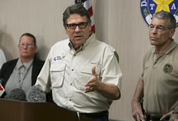 Gov. Rick Perry and DPS Director Steve McCraw spoke at a June 23, 2014, news conference following a tour of a federal facility housing unaccompanied minors in Weslaco, Texas. The state is providing $1.3 million per week to step up border patrols.