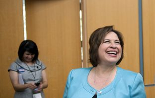 State Sen. and Democratic nominee for lieutenant governor Leticia Van de Putte at the Democratic state convention on June 27, 2014.