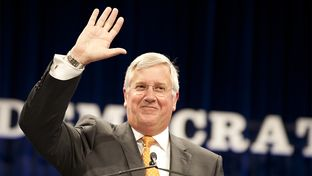Mike Collier, Democratic nominee for Texas comptroller, at the state Democratic convention in Dallas, Texas, on June, 27, 2014.