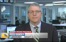 "Texas Tribune Executive Editor Ross Ramsey on WFAA-TV's ""Inside Texas Politics"" on July 6, 2014."