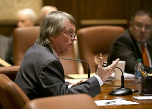 UT President Bill Powers speaks during a UT Board of Regents meeting on July 10th, 2014