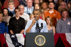 President Barack Obama in a speech to Texas Democrats at the Paramount Theater July 10, 2014.