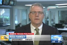 "Texas Tribune Executive Editor Ross Ramsey on WFAA-TV's ""Inside Texas Politics"" on July 13, 2014."