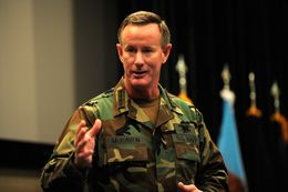 Admiral William H. McRaven, commander of the United States Special Operations Command, is reportedly a candidate to replace UT Chancellor Francisco Cigarroa. Best known for coordinating the successful operation to kill Osama bin Laden, McRaven holds a bachelor's degree from the University of Texas at Austin.