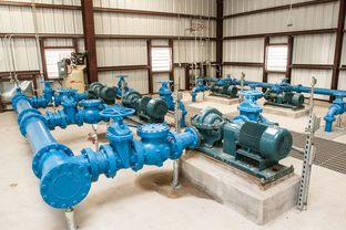 Pump systems for the Freer Water Control and Improvement District's arsenic removal system facility in Freer, Texas.