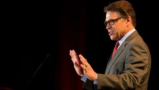 Rick Perry speaks at the RedState Gathering in Fort Worth, Texas on August, 8, 2014.