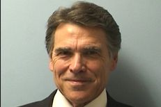 Mugshot of Governor Rick Perry, booked on two felony counts at the Blackwell-Thurman Criminal Justice Center in Austin, Texas on Tuesday, August 19, 2014.