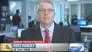 "Texas Tribune Executive Editor Ross Ramsey on WFAA-TV's ""Inside Texas Politics"" on Sept. 14, 2014."