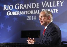 Texas Attorney General Greg Abbott answers a question during a Sept. 19, 2014, gubernatorial debate with state Sen. Wendy Davis. The debate, held at the Edinburg Conference Center at Renaissance, was the first of two scheduled before the November  general election.