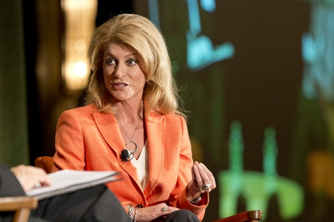 Texas Sen. Wendy Davis, D-Fort Worth, candidate for Texas governor, at TribLive keynote on Sept. 20, 2014.
