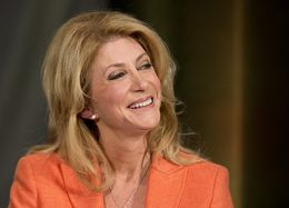 Wendy Davis smiles at a questioner during the final moments of her keynote at TribFest Sept. 20, 2014.