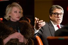 Comedian Joan Rivers and Gov. Rick Perry