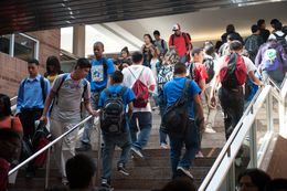 Students at Townview Center in South Dallas.