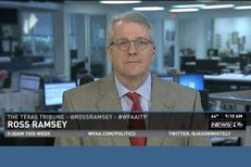 "Texas Tribune Executive Editor Ross Ramsey on WFAA-TV's ""Inside Texas Politics"" on Oct. 5, 2014."