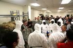 Gov. Rick Perry visiting soldiers at Fort Hood on Oct. 9, 2014. The 36th Engineering Brigade is preparing to deploy to Liberia to assist in the effort to control the Ebola outbreak.